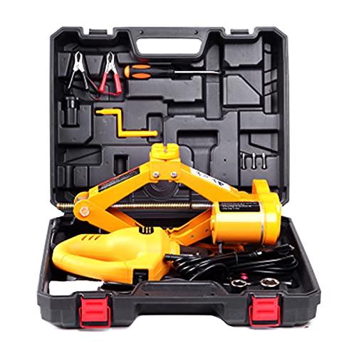 QJF Gato hidráulico eléctrico, viaje diario/autoconducción, mantenimiento esencial y elevación a bordo Scissor Car Jack