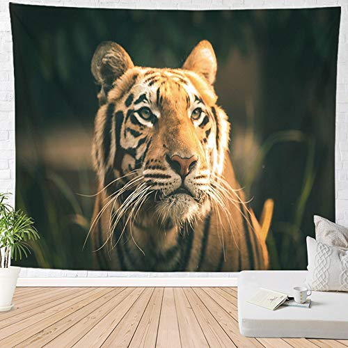 ZXBFJK Tapestry Wall Hanging,Hippie Psychedelic Large Rectangular Print Fabric Tapestries,3D Landscape Animal Tiger,Indian Art Print Mural,for Bedroom Living Room Dorm Home Decor