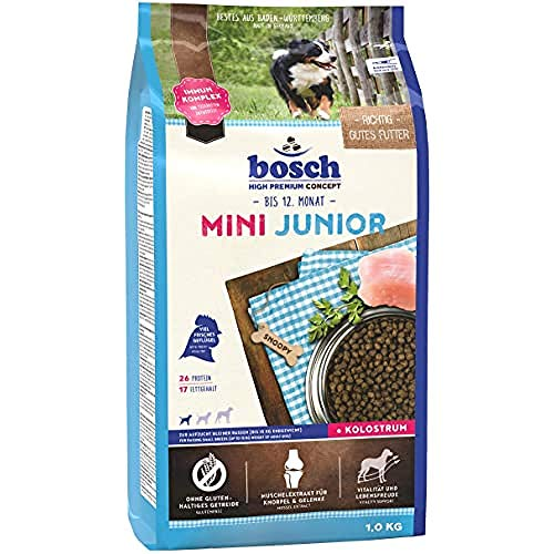 bosch HPC Mini Junior | Alimento seco para perros de cría de razas pequeñas (hasta 15 kg) | 1 x 1 kg