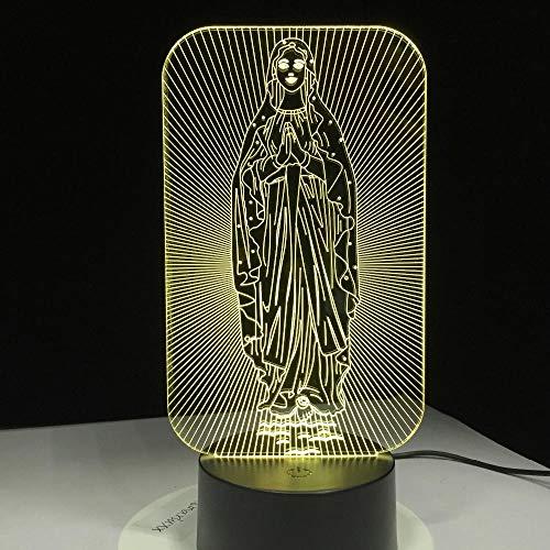 ZSSYD 3D Lámpara Óptico Illusions Luz Nocturna, 16 Colores Lámpara