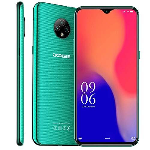 "Cellulari Offerte, DOOGEE X95 Dual 4G Android 10 Smartphone,6.52"" 19:9 HD+ Schermo,13MP Telecamere Posteriori Triple,4350 mAh,2GB RAM+16GB ROM Quad-Core 128GB Espandibili Telefonia Mobile (Verde)"