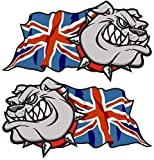 Sticar-it Ltd Handed Pair Of BRITISH BULLDOG Union Jack Great Britain British Flag Vinyl Car Bike Helmet...