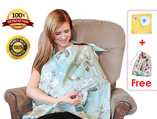 Best Nursing Cover For Breastfeeding Made Simple By ChicBumble-Universal Stroller Blanket For Sun, Car Seat Cover & Shopping Cart Sheet-Privacy Accessory With Pattern For Boys & Girls-Baby Shower Gift
