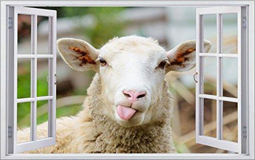 Schaf Tier Wolle Wandtattoo Wandsticker Wandaufkleber F1307 Größe 60 cm x 90 cm