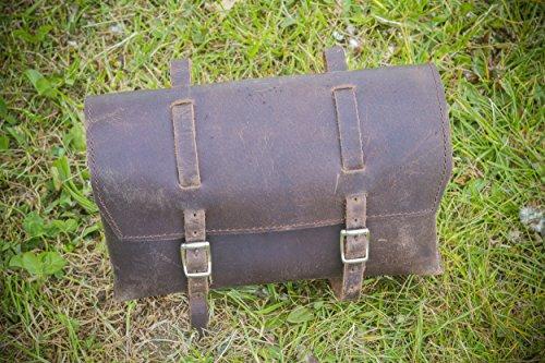 Review LondonCraftwork Bike Bag Saddle/Handlebar/Frame Bag in Brown Leather XL-BR