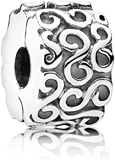 PANDORA S Clip Charm, Sterling Silver, One Size