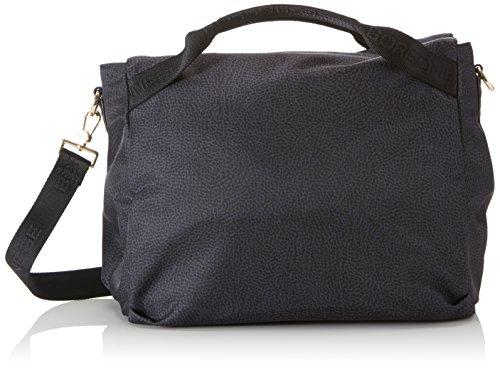 Borbonese Handbag, Borsa a Mano Donna, Nero, 32x28x20 cm (W x H x L)