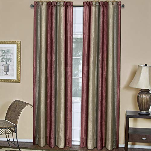 "Achim Home Furnishings Ombre Window Curtain Panel, 50"" x 84"", Burgundy"