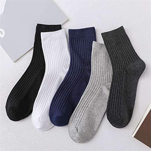 VTXWL Calcetines gruesos de algodón que absorben el sudor y absorben el sudor para hombre (color: negro).
