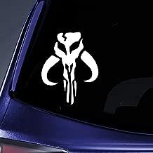Bargain Max Decals - Mandalorian Skull Boba Fett - Sticker Decal Notebook Car Laptop 6