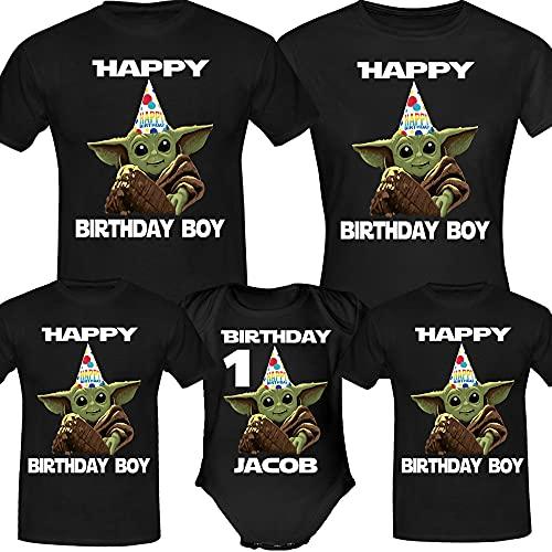 Personalised Baby Y.o.d.a Birthday Shirt, Birthday Girl Boy, Custom Age Shirts, Birthday Family Shirt,Birthday Gifts, Custom Birthday Shirt Long Sweatshirt Hoodie Black