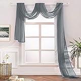 MIULEE Semi Sheer Curtain Scarf ...