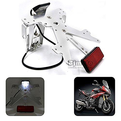 BJ Global motocicleta conversión Scooter Ciclomotor aluminio número de licencia Plate Frame Holder Soporte para Kawasaki Z800201320142015