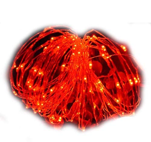 MSC - 23ft / 7m -70 Led's USB Powered LED Red Coloured String Fairy Lights On Copper Cable, Ideal for Christmas, Xmas, Party,Wedding,Decoration Red-USB-7m