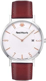 René Mouris 41mm Classic Quartz Watch | L'Emporter | Leather Strap