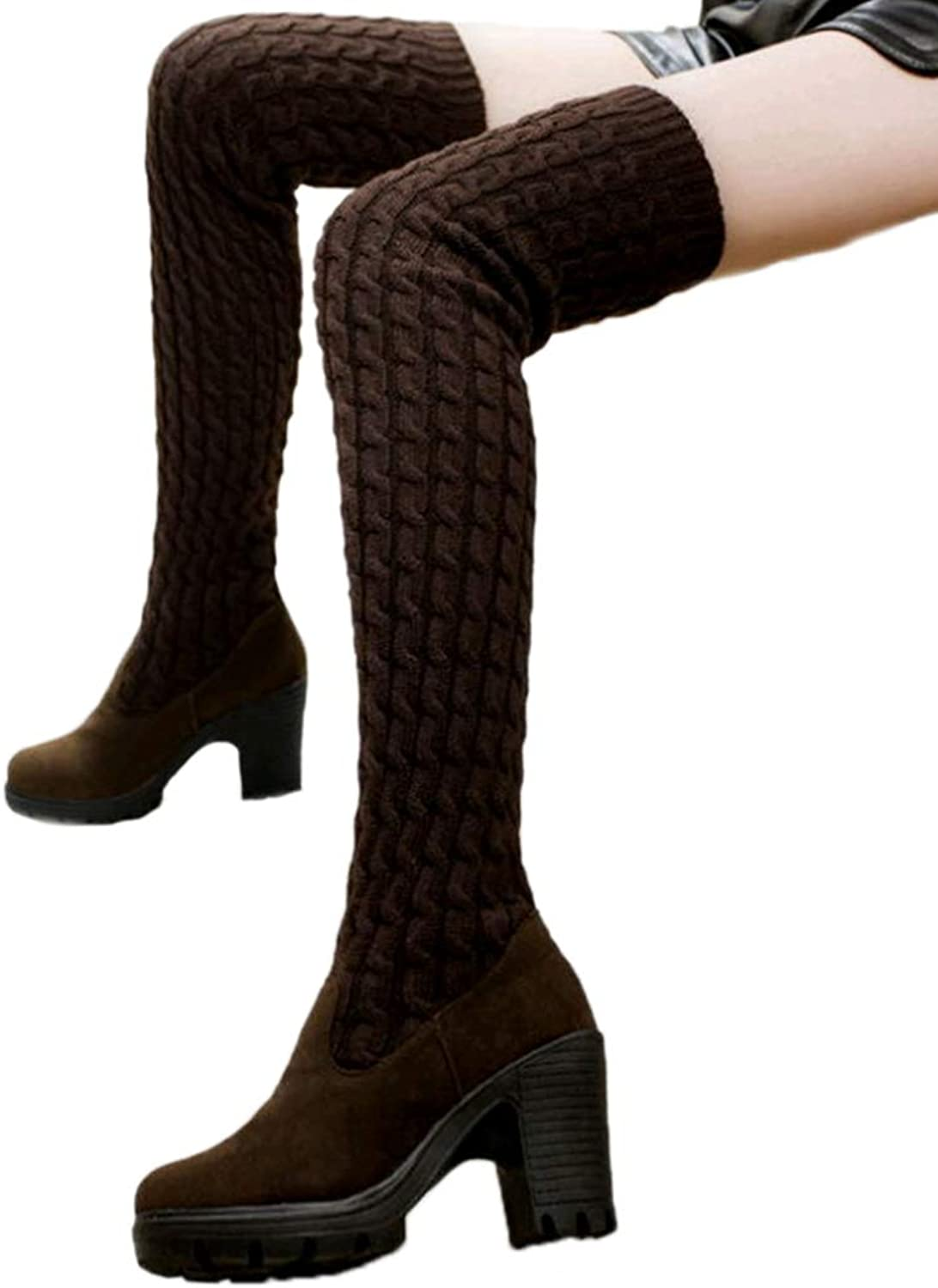 Women shoes Over The Knee High Ladies Wool Plush Thigh High Long Boot Fashion Winter Spring Boots