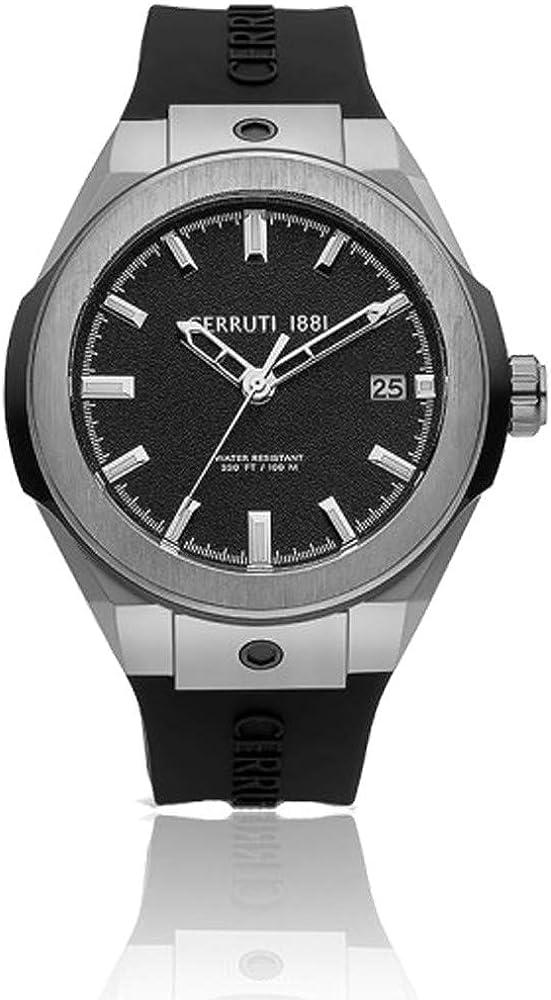 Cerruti 1881, orologio per uomo, in acciaio e cinturino in silicone CRA29001