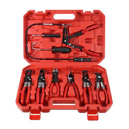 Handor 9pcs Hose Clamp Pliers, Wire Long Reach Hose Clamp Pliers Set Fuel Oil Water Hose Auto Tools