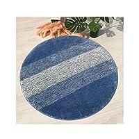 ラグ・カーペット・マット 寝室のリビングルームのコーヒーテーブルクッションベッドサイドの洗濯台のクッションベッドサイドの洗濯台 ラグ・カーペット (Color : Blue, サイズ : 31.5in)