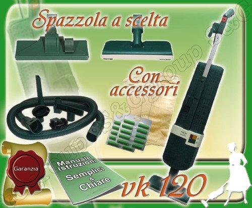 S&G group ASPIRAPOLVERE Usato GARANTITO VORWERK Folletto Kobold VK 120 + Accessori Pulizie
