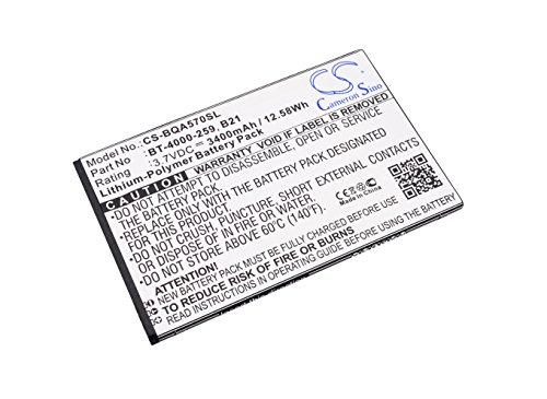 CS-BQA570SL Batería 3400mAh Compatible con [BQ] Aquaris 5.7 sustituye B21, BT-4000-259