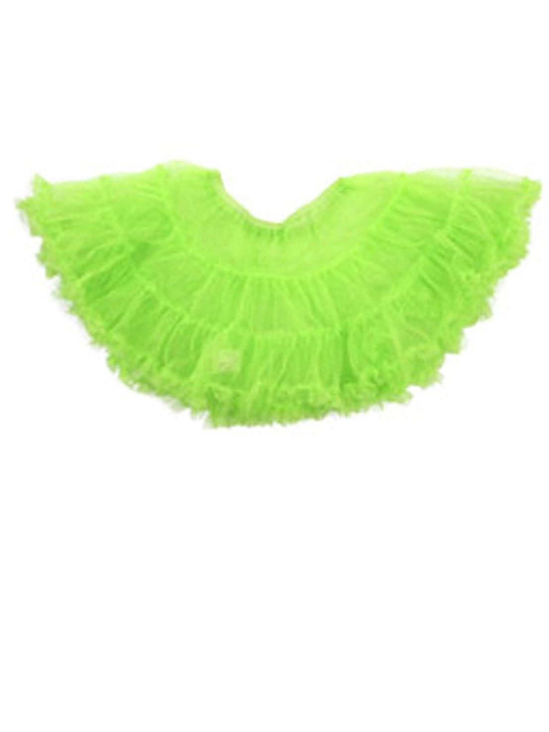 麻痺させるくそー成長コスプレ スカート 衣裳 ふんわり パニエ ボリューム コスチューム用 小物 ドレス 緑 tg001gr