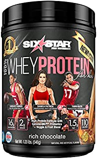 Six Star 100% Whey Protein for Her Powder, Whey Protein Isolate, Rich Chocolate, 1.2 pounds