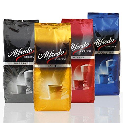 Aktion-Bundle Alfredo Espresso mit allen Sorten 4 x 1000g