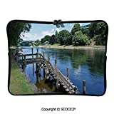 YOLIYANA Waikato River Hamilton City New Zealand Holiday Destination Travel Laptop Sleeve Case Water-Resistant Protective Cover Portable Computer Carrying Bag Pouch for 13 inch/13.3 inch Laptop