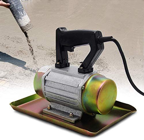 YJINGRUI Concrete Vibrator 110V 250W Hand-held Concrete Cement Vibrating Machine Domestic Flat Plate Trowel 2840 VPM