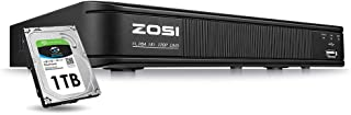 ZOSI 720p 8 Channel HD-TVI 1080P Lite Video Surveillance DVR Recorders with Hard Drive 1TB, P2P Technology, QR Code Scan Remote Access,Motion Detection,Hybrid Capability 4-in-1(Analog/AHD/TVI/CVI)