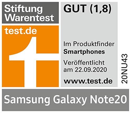Samsung Galaxy Note 20 Android Smartphone ohne Vertrag Triple Kamera Infinity-O Display256 GB Speicher starker Akku, Handy in bronze inkl. 36 Monate Herstellergarantie [Exklusiv bei Amazon]