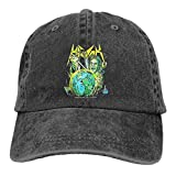 Photo de Havok Unnatural Washed Cotton Adjustable Baseball Cap Dad Hat Black par