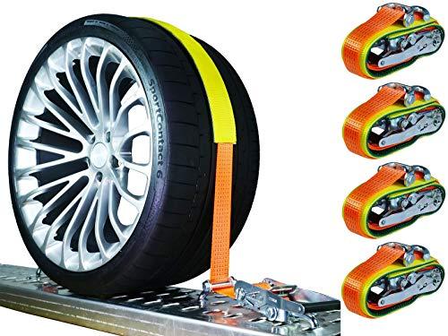 4 x 5000 kg 50mm Spanngurte Auto Transport PKW Auto Transport Zurrgurte Reifengurte