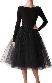 WDPL Wedding Planning Women's A Line Short Knee Length Tutu Tulle Prom Party Skirt
