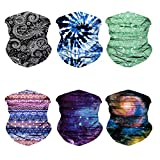Oureamod Wide Headbands for Men and Women Athletic Moisture Wicking Headwear for Sports,Workout,Yoga Multi Function (Fantasy-6pcs)