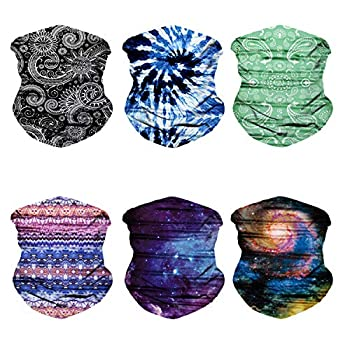 Oureamod Wide Headbands for Men and Women Athletic Moisture Wicking Headwear for Sports,Workout,Yoga Multi Function  Fantasy