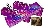 Pack 3 N-7 - Tinte Profesional Permanente Vegano SIN AMONIACO, libre de PPD Y MEA Gran brillo y cobertura - 3 x 100ml. (07- RUBIO MEDIO NATURAL)