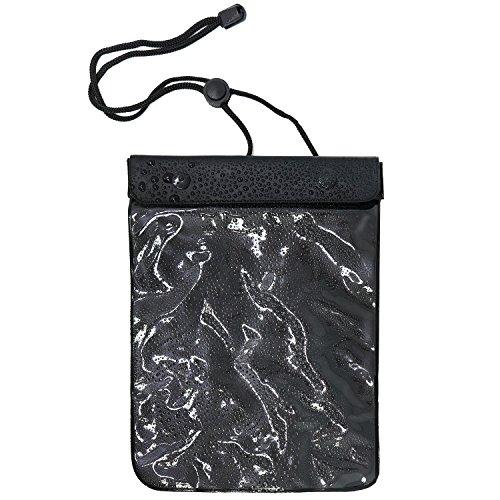 COM-FOUR® waterdichte beschermhoes - stofdichte hoes voor tablet en e-book reader - beschermhoes in zwart - 8,8