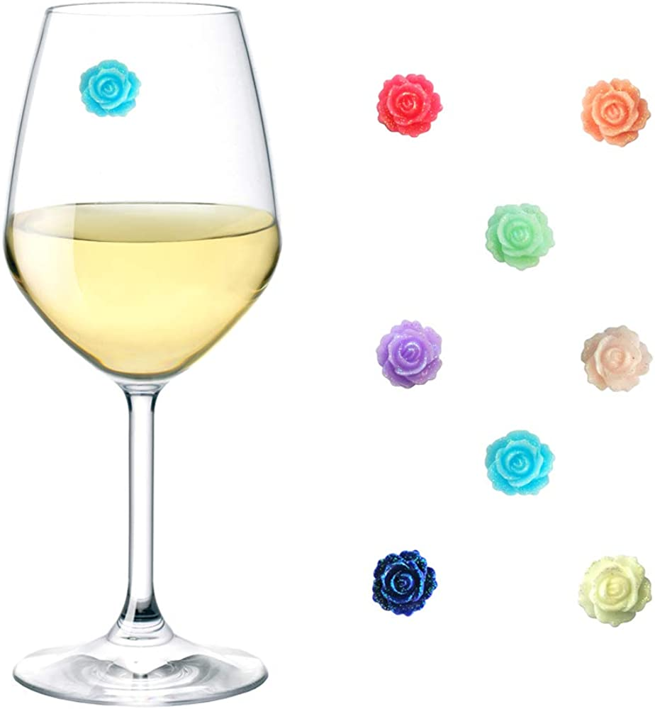 Magnetic Wine OFFicial Glass Limited price Charms Set Rose Markers of Wi 8