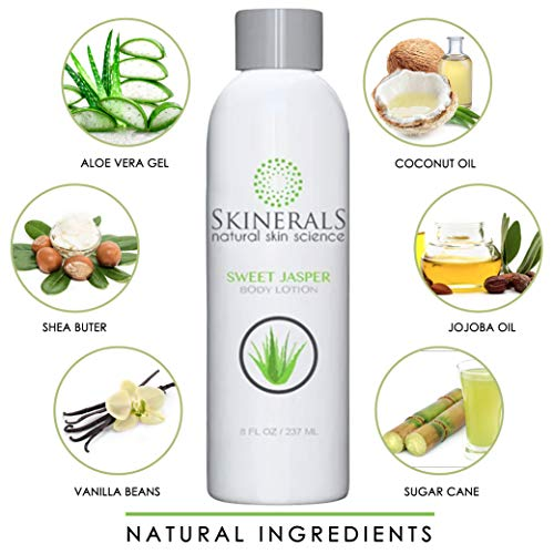 51Zx8BzgPlL - Skinerals Body Lotion Sweet Jasper with Organic and Natural Ingredients Vanilla Scent with Aloe, Coconut Oil, and Shea Butter for Softer Mosturized Skin