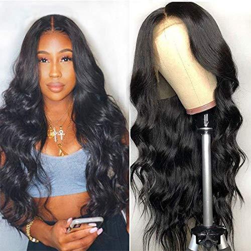 VIPbeauty 10A body wave Perruque lace frontale 150% Densite Remy cheveux Bresilien naturel couleur naturel pour femme.