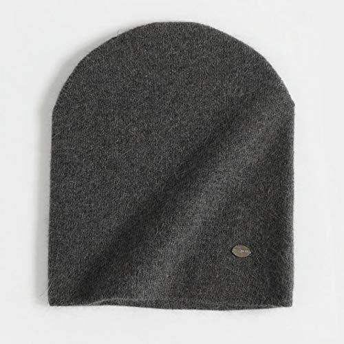 Weibliche Mützen Winterhüte für Frauen Lässig Herbst Gestrickte Mütze Mädchen Mode Hochwertige Bonnet Cap Soft Hat-Dark Gray 2