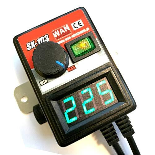 Motordrehzahlsteuerung Drehzahlsteuerung Drehzahlregler Regler für Motor Lüfter Gebläse bis max. 500W / 230V AC