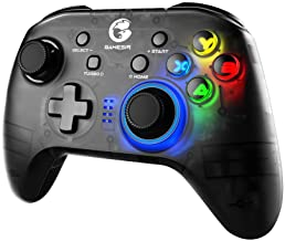 GameSir T4 Pro Wireless Bluetooth Controller for Nintendo Switch, Switch Pro Controller with LED Backlight, Turbo Gamepad Joystick with Dual Motor, Programmable Game Controller for iPhone/Android/PC