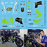 Calcomanías 1/12 X Yamaha R1 M Réplica Valentino Rossi (kit Tamiya) calcomanía TBD442