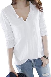 BOFETA tシャツ レディース シンプル Vネック トップス ビッグシルエット 部屋着 POLO シャツ 着やせ 柔らか ポールシャツ カットソー 良質素材 速乾 天竺 tシャツ 無地
