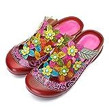 gracosy Sandalias de Mujer Sandalias de Cuero con Tacones Zapatos de Verano con Suela de Mujer Sandalias con Cordones Zapatos de tacón Alto con Flores Vintage