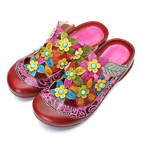 Gracosy Sandalias Mujer Sandalias Cuero Tacones Zapatos
