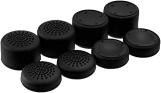 8PCS Raised Analog Sticks Thumb Grips Cap Cover Joysticks for Sony Playstation 4 PS4 PS4 Slim PS4 Pro DualShock 4 PS2 PS3 Nintendo Switch PRO Xbox 360 Wii U Thumbsticks (Color A Black)